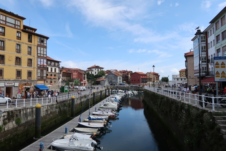 View of Llanes harbour